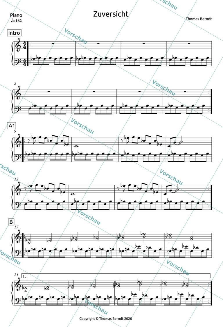 Zuversicht | Piano Score
